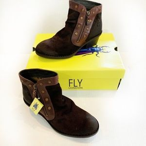 Fly London Duke Ankle Bootie Suede